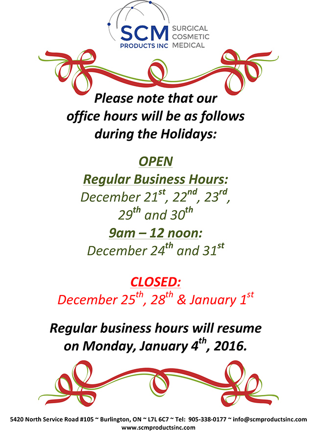 Holiday Business Hours